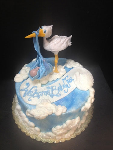 Stork Baby Shower Cakes Pictures